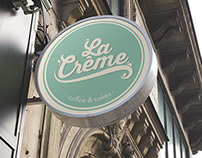 La Crème · Coffee & Cakes Branding & Packaging