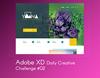 Adobe XD Creative Challenge #2 - Local Landing Page