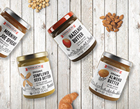Karmalize.me - nut butters labels and almond milk tags
