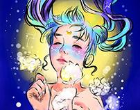 """Qinni art tribute """"her world of stars"""""""