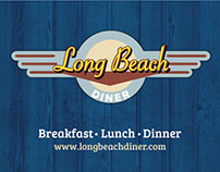 Long Beach Diner: Logo, Business Card, Menu Cover