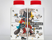 VILKYŠKIŲ KEFYRAS packaging design | 2013