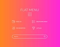 Flat Menu