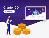 isometric crypto web UI PSD