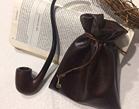 Strider Leather Pipe-weed Pouch