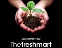 The Freshmart standee board design