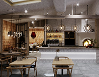 Restaurant design in Ukrainian style