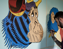 Three Monkeys_Wallpaint