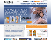 Exergen Corporation Website Design