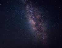 The Milky Way in the desert of Fayoum, Egypt
