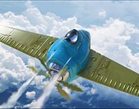Flight of the pelicans, 3Dcoat study