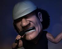 AC/DC Singer Brian Johnson Caricature