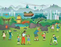 Hong Kong for children illustration