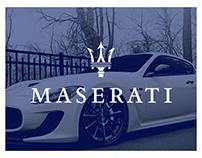 Maserati Redesign // UI & UX Design