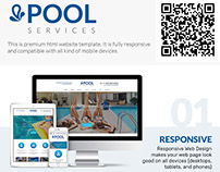 Swimming Pool Services Website Template