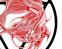 Siamese Red Fighting Fish