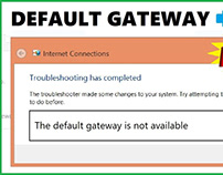 How to fix The Default Gateway is Not Available