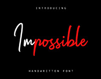 FREE | Impossible Handwritten Font