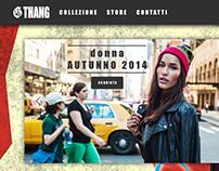 """Homepage per Sito Fittizio """"G Thang"""""""