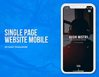 Single page Website MOBILE XD daily challange