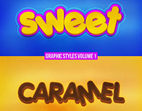 2 PSD Graphic Styles Text Effect Vol.1