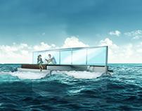 Boat design concept sketch