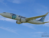 3D EgyptAir Flight