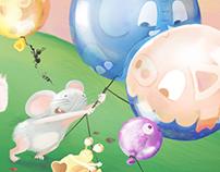 Hedgehog's balloons
