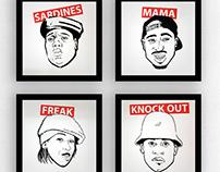 ICONS SERIES #1 - Rap Legends