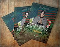 Flyer | The American Dream Night DJ Poster