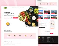 Vegan restaurant landing page