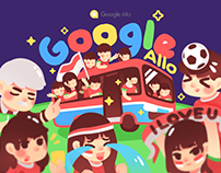 Google Allo - Indonesia Soccer Stickers
