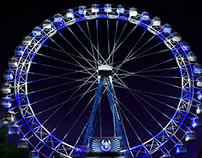 Lighting design for Ferris wheel