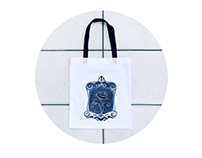 Handmade bag &linocut print