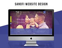 Sanofi Website Design