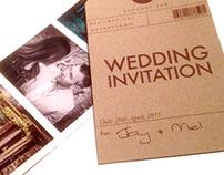 Luggage-Tag Wedding Invitation