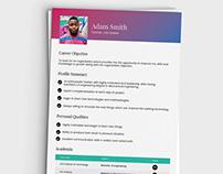 Free Fresh Resume Template for Jobs Seeker