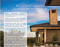 Real Estate - Print Design 2pg Brochure