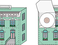 Toilet paper packaging for Paperhouse