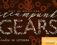 Steampunk Gears FREE Lettering