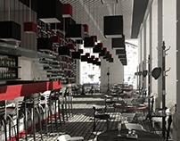 """Positive|negative"" cafe-art gallery interior design"