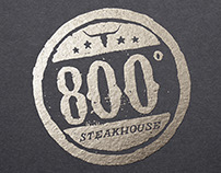 800° Steakhouse Logo