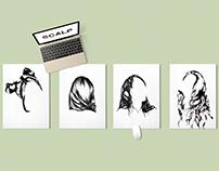 Hair identity - Ballpoint pen illustrations