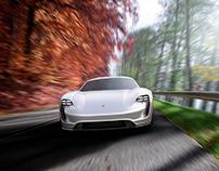 Porsche Mission E concept visualisation