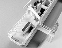 """""""La virgule"""" - Houseboat for Homeless - Global design"""