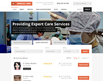 Medical Care - Medical PSD Template