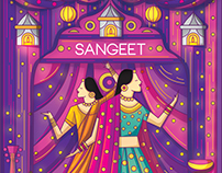 Contemporary Indian Wedding Invitation Suite 2