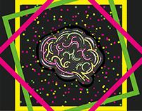 Illuminated Brain Illustration - Inspired By Music