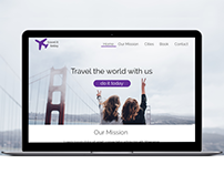 Travel it today - travel agency website layout