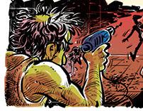 Illustrations for Tahrir newspaper - Egypt